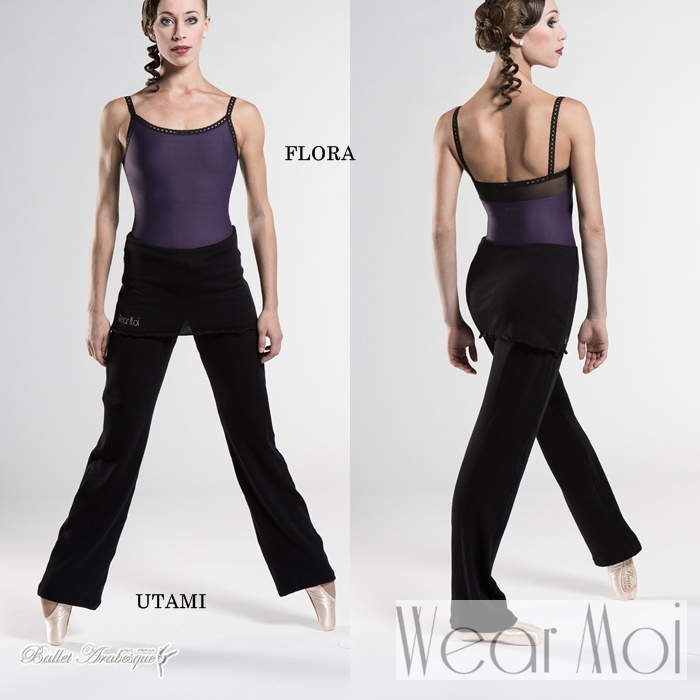 【Wear Moi ウェアモア】UTAMI ウタミ スカート付ニットロングパンツ ブーツカット 子供用 バレエ