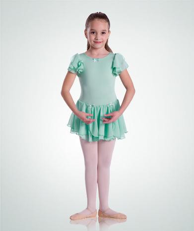 在庫処分セール【Body Wrappers ボディラッパーズ】BW3531 妖精のようなフリルレオタード【子供バレエドレスレオタード】