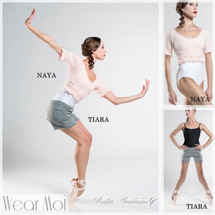 【Wear Moi ウェアモア】TIARA ティアラ バレエニットハイウェストショートパンツ 子供ジュニア用 バレエ