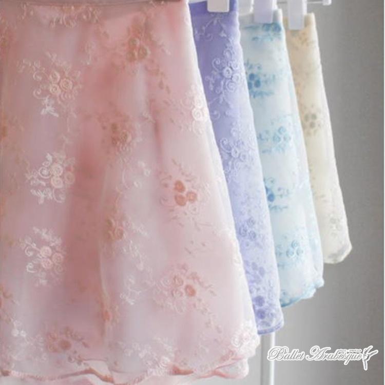 【Sisira Dancewear シシラダンスウェア】 ローズデュオ 巻スカート Rose Duo バレエ巻きスカート