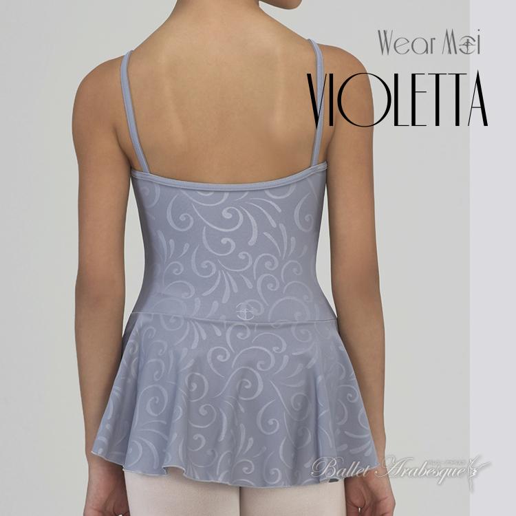 【Wear Moi ウェアモア】 VIOLETTA ヴィオレッタ キャミソールレオタードドレス(子どもバレエレオタード)