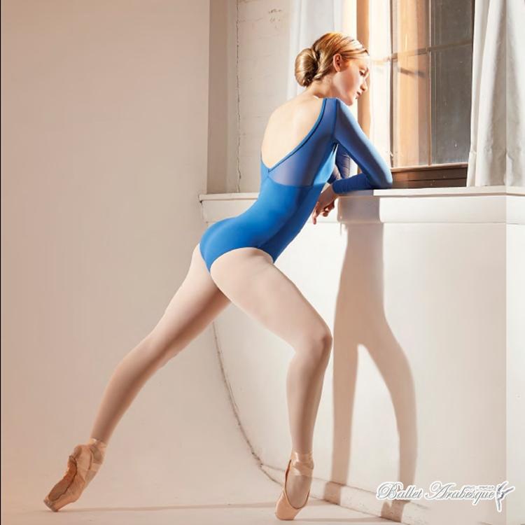 【Lulli Dancewear リュリ ダンスウェア】LUB347 LADA ラーダ 大人バレエレオタード ロングスリーブ 長袖 メッシュ1/2