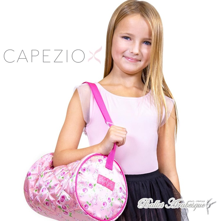【CAPEZIO カペジオ】Some Bunny Loves You Barrel Bag バレエダッフルバッグ バニー ローズ かわいいダンサーバッグ ピンク 子供用  B215