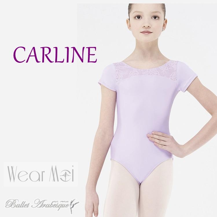 【Wear Moi ウェアモア】CARLINE キャルリンヌ 【子供バレエレオタード】半そで キャプスリーブ