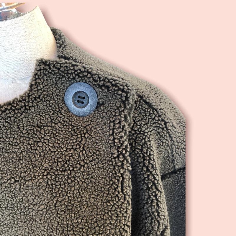 uju ボア×スエードコートジャケット