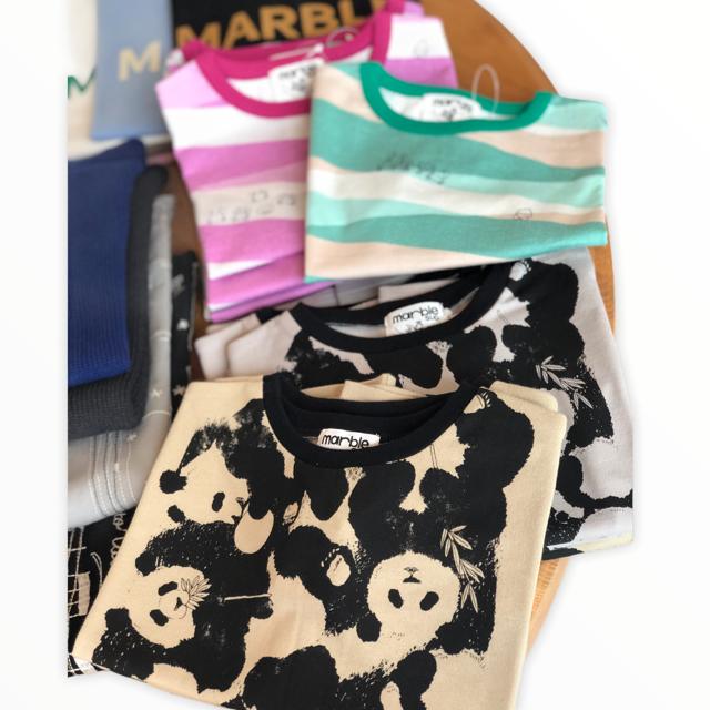 marbleSUD kidsカニとリボン Tシャツ