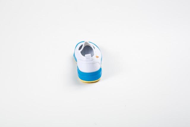 carrot(キャロット)上履き甲ゴムタイプ白/水色ST01