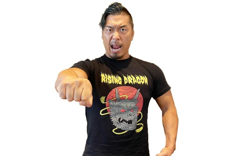 新日本プロレス NJPW 鷹木信悟 RISING DRAGON Tシャツ