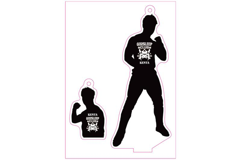 新日本プロレス NJPW フィギュアシートキーホルダー KENTA (2021)