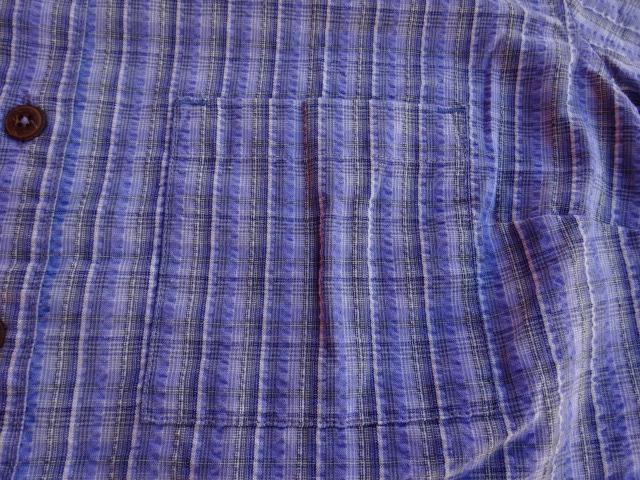 美USED パタゴニア 01年製 Women's パッカーウェアシャツ 水色系チェック W'S S ssc463