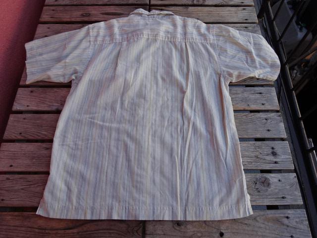 USED 05年製 【Rhythm】 パタゴニア サイドバーンシャツ Barberストライプ S ssc468