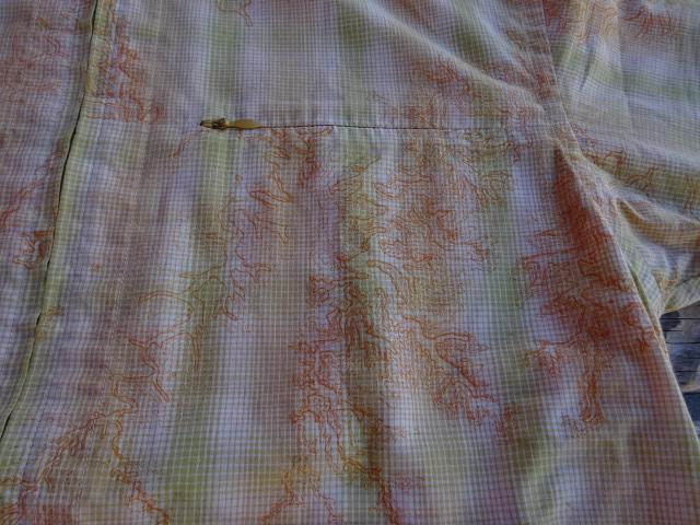 USED 07年製 パタゴニア サイドバーンシャツ オレンジ系に稜線の様な柄 S ssc472