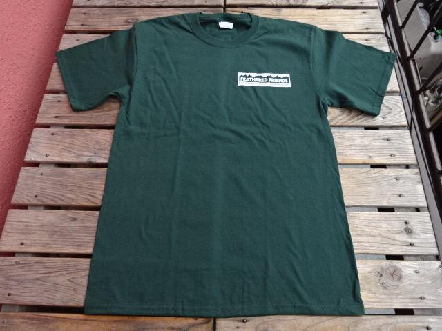 新品 2021SS フェザードフレンズ EIDER 1989 Tシャツ ディープグリーン L tsg375