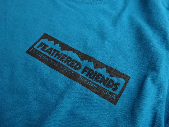 新品 2021SS フェザードフレンズ EIDER 1989 Tシャツ ティール S tsg381