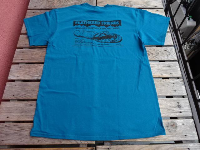 新品 2021SS フェザードフレンズ EIDER 1989 Tシャツ ティール L tsg383
