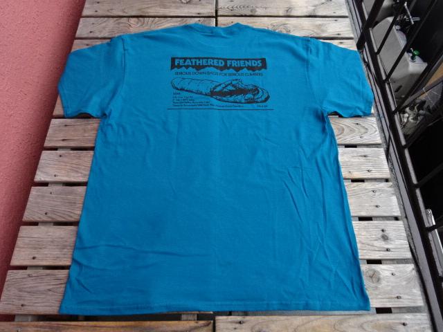 新品 2021SS フェザードフレンズ EIDER 1989 Tシャツ ティール XL tsg384