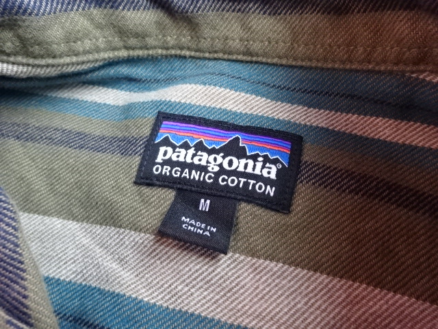 USED パタゴニア 2016年製 ライトウェイトフィヨルドフランネルシャツ ボーダー M ssc600