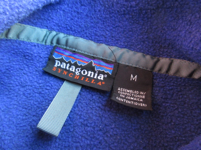 USED パタゴニア シンチラスナップT ブルーリボンオーバーダイ 97年製 M jks141