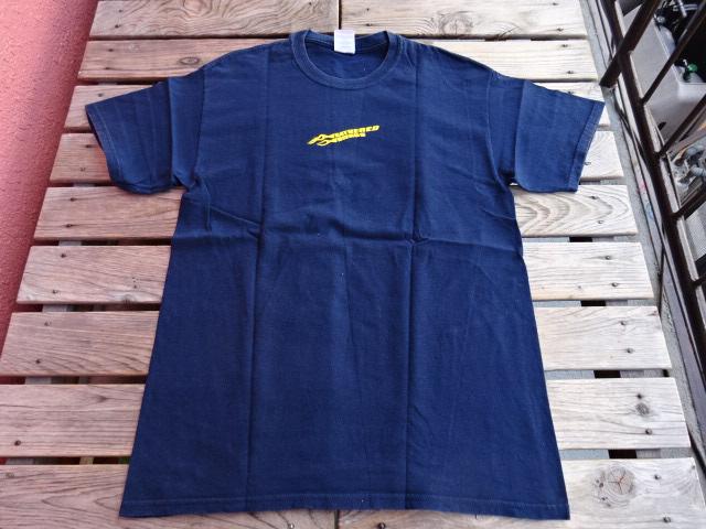 USED フェザードフレンズ ファイアーTシャツ 紺 M tsg142