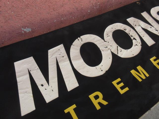 USED ビンテージ 90年代頭頃のムーンストーン 【MOONSTONE】のナイロンバナー 黒 ach626