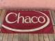 USED ビンテージ チャコ Chacoのコットンキャンバスバナー エンジ コロラドUSA製 ach627