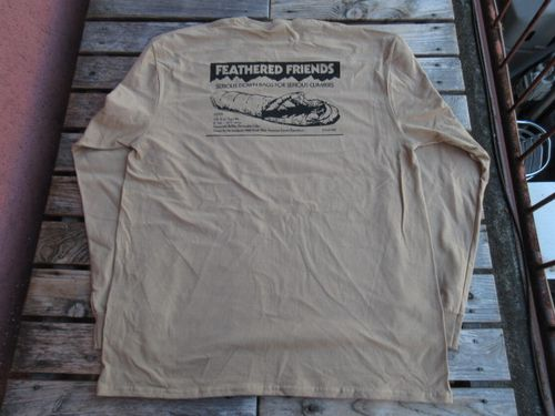 新品 フェザードフレンズ EIDER 1989 長袖 Tシャツ サンド XL tsf072