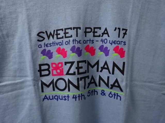 デッドストック モンタナ州ボーズマン スイートピーフェスティバル2017 Tシャツ S tsg028