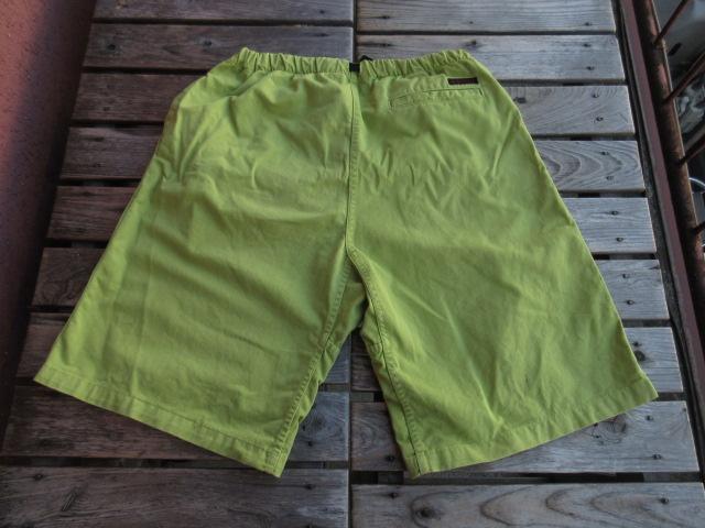 USED グラミチ 「GRAMICCI」 アメリカ製 ショーツ S 黄緑 pac943