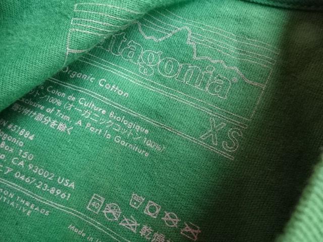 未使用品 パタゴニア ダイアモンドC 【C】 Tシャツ 2012年製 緑 XS tsg284