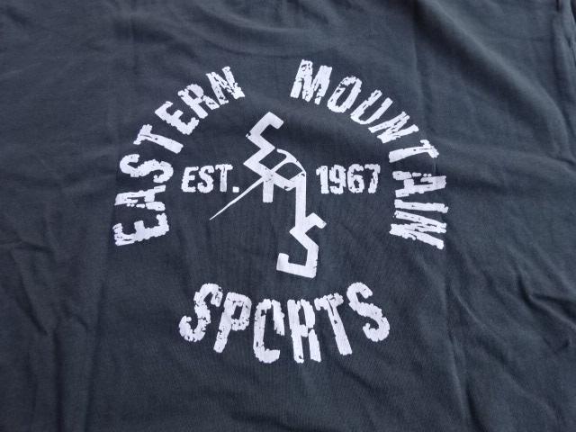 新品 【EMS】 アイスアックス ヘリテージロゴTシャツ イースタンマウンテンスポーツ ダークグレー L tsg520