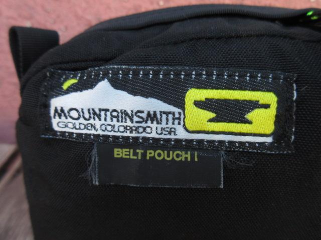美USED マウンテンスミス ベルトポーチ 白山 黒 USA製 ach215