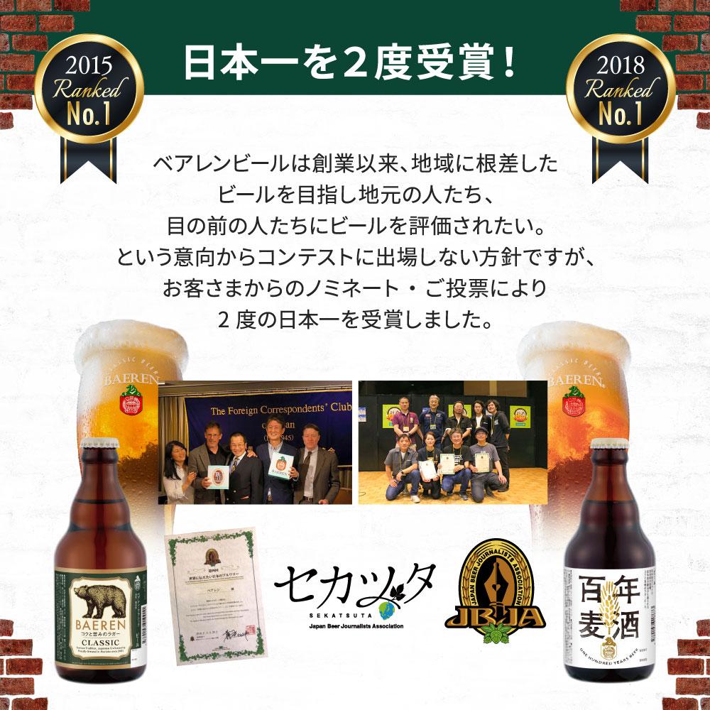 [送料無料][ラッピング・熨斗・メッセージカード不可] ベアレン醸造所 定番ビール4種6本 トライアルセット KB