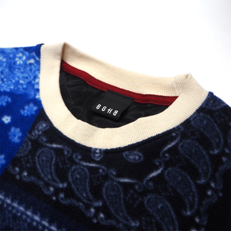 PAISLEY QUILTING PULLOVER