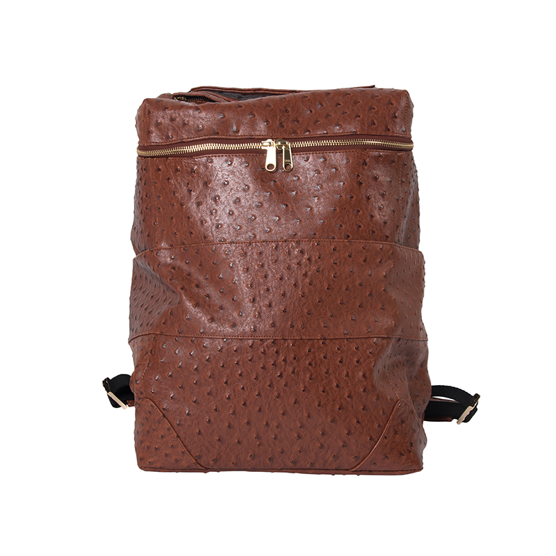 OSTRICH PU LEATHER BACKPACK