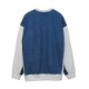 DENIM COMBI SWEAT