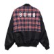 WIDE NYLON CHECK JKT