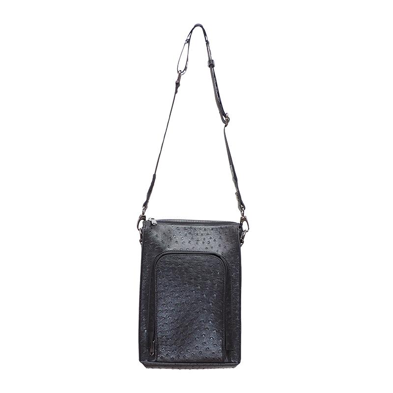OSTRICH SHOULDER BAG
