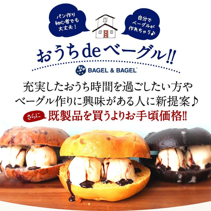 【送料無料】おうちdeベーグル(ベーグル生地) お試し プレーンベーグル 10個セット