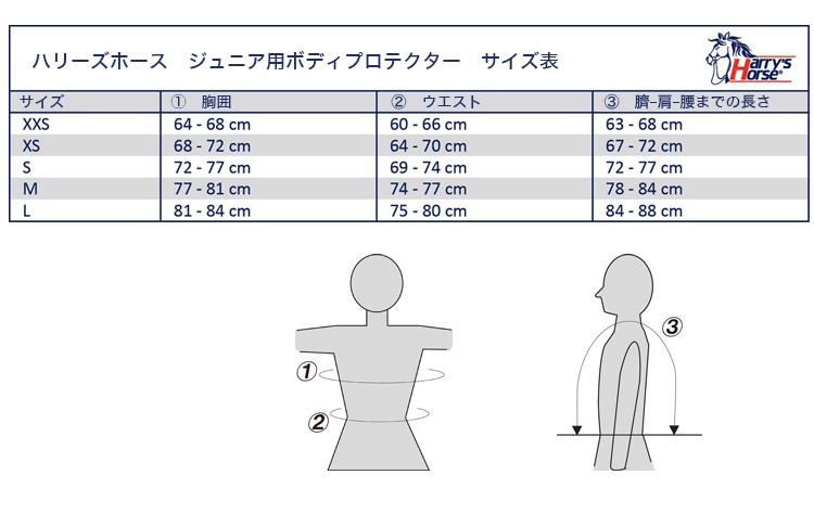☆セール☆ ハリーズホース ジュニア用ボディプロテクター
