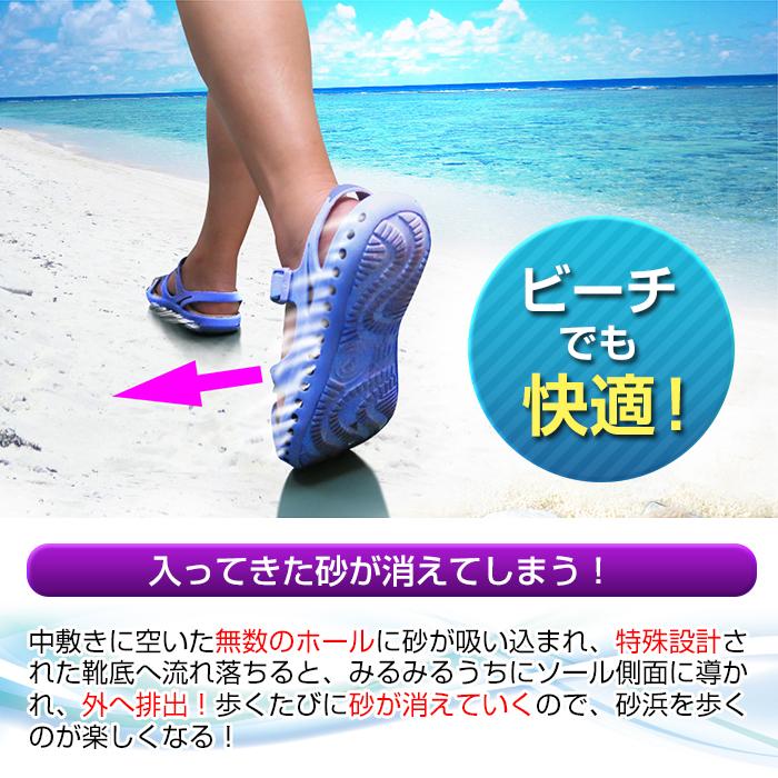 【生産完了品 新品 早い者勝ち】 砂が消える ビーチサンダル スナテックス サンダル レディース かかとあり VENTOLATION  女性 砂 海 海水浴 砂浜 通り抜ける