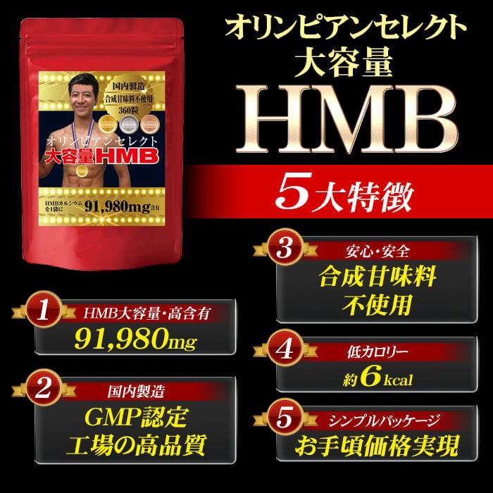 【生産完了品 未開封新品 賞味期限2020年2月】 国産 アミノ酸 サプリメント 大容量HMB(255.5mg×360粒) HMB サプリ ロイシン 筋トレ プロテイン