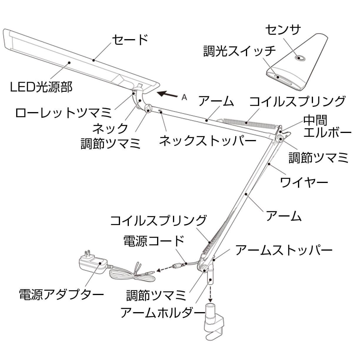 目に優しい タッチレス 触れない テレワーク クランプタイプ 高演色LEDデスクライト 学習机 おしゃれ 在宅勤務 1人暮らし 必要なもの おうち時間 オフィス LEDデスクスタンド LEX-980 PRO