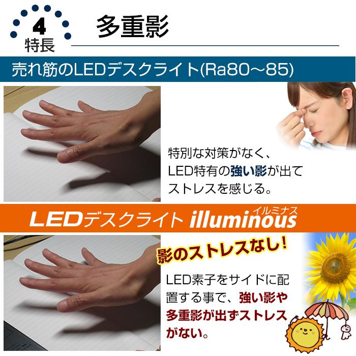 テレワーク 目に優しいLEDデスクライト illuminous イルミナス デスクライト LEDデスクスタンド