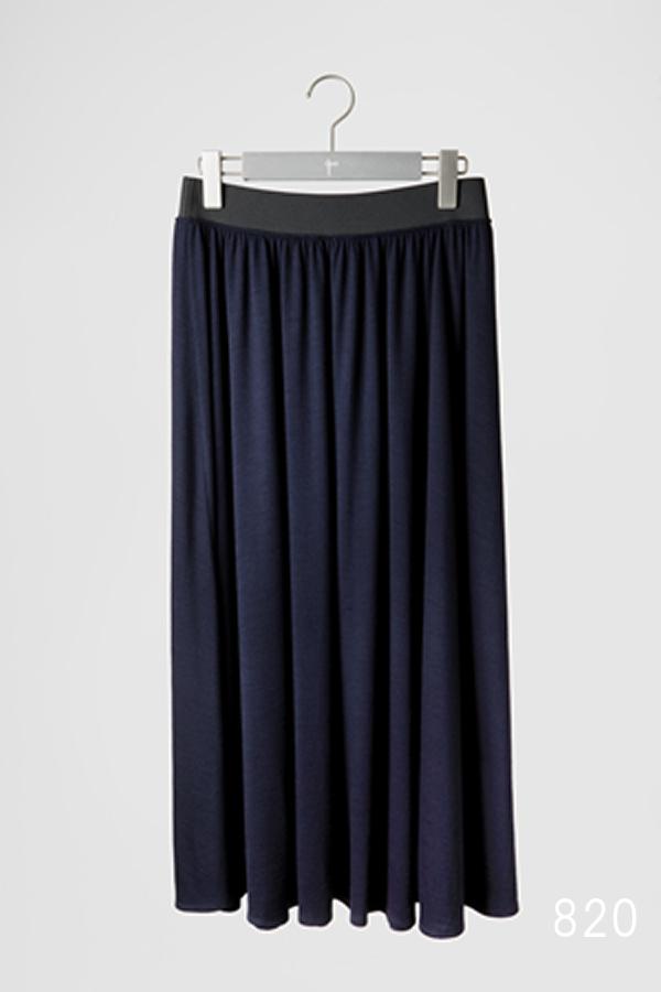 ウールジャージーセミフレアスカート [CROCE CROSS] SARNANO