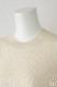シルクカシミヤ五分袖クルーネック  オフホワイト [CROCE CROSS] MEZZANO/030