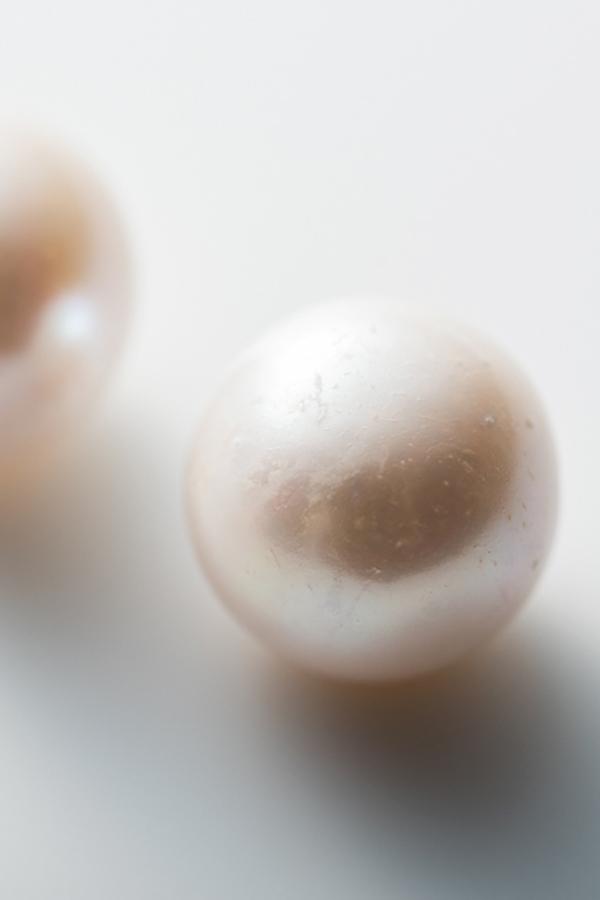 【仮予約対応】大粒淡水パールのピアス 12mm 丸型 [Kong qi] KP-004