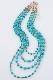 【仮予約対応】ターコイズカラーの4連ネックレス [Shu mu] SG-1424W