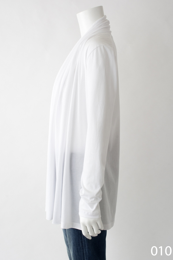 ハイソフトコットン カーディガン ホワイト [CROCE CROSS] CRISTALLO/010