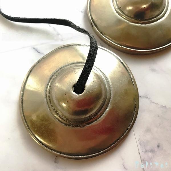 ティンシャ/チベタンベル/チベット密教神具【ライトブロンズ】