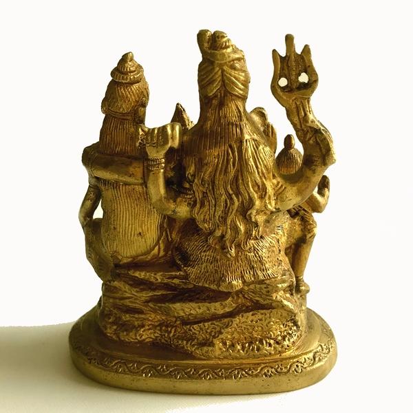 ベビーガネーシャ/ガネーシャ・シヴァ・パールバティ・スカンダ/家族の肖像/真鍮像